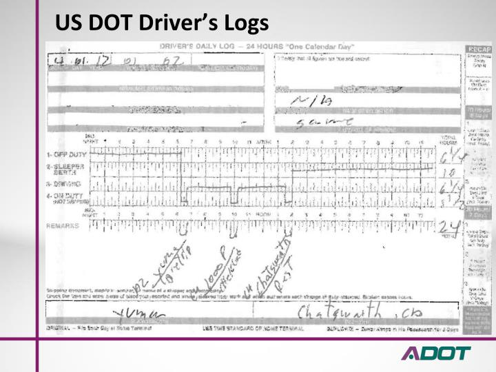 US DOT Driver's Logs