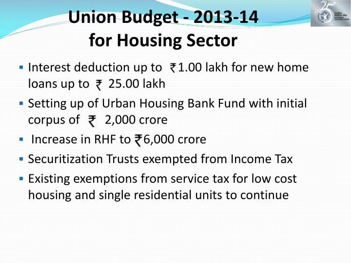 Union Budget - 2013-14