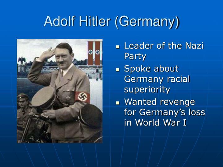 Adolf Hitler (Germany)