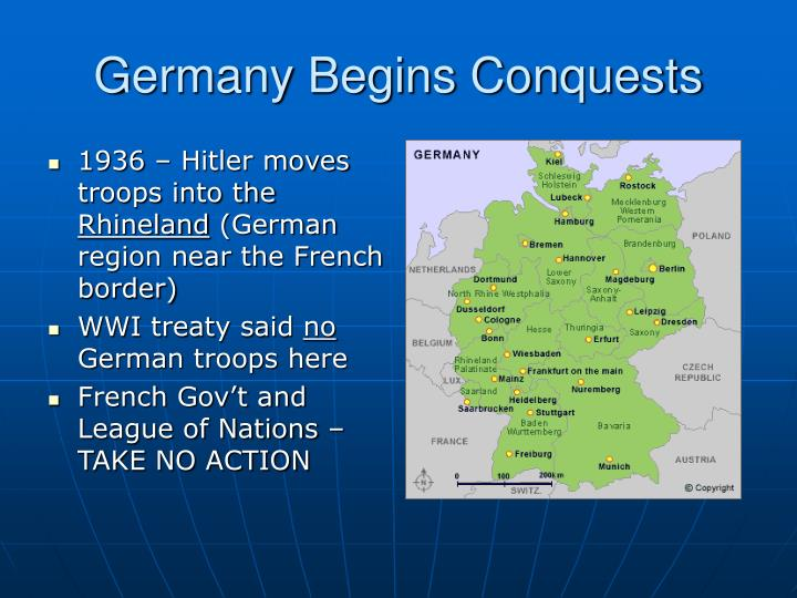 Germany Begins Conquests