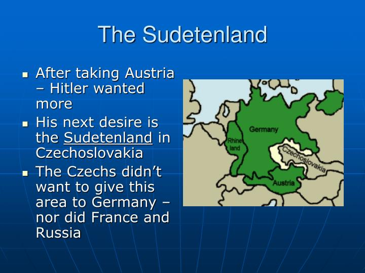 The Sudetenland