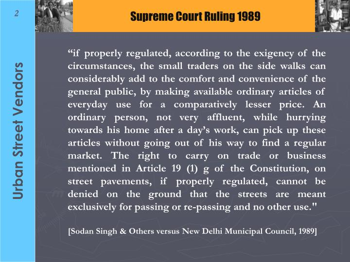 Supreme Court Ruling 1989