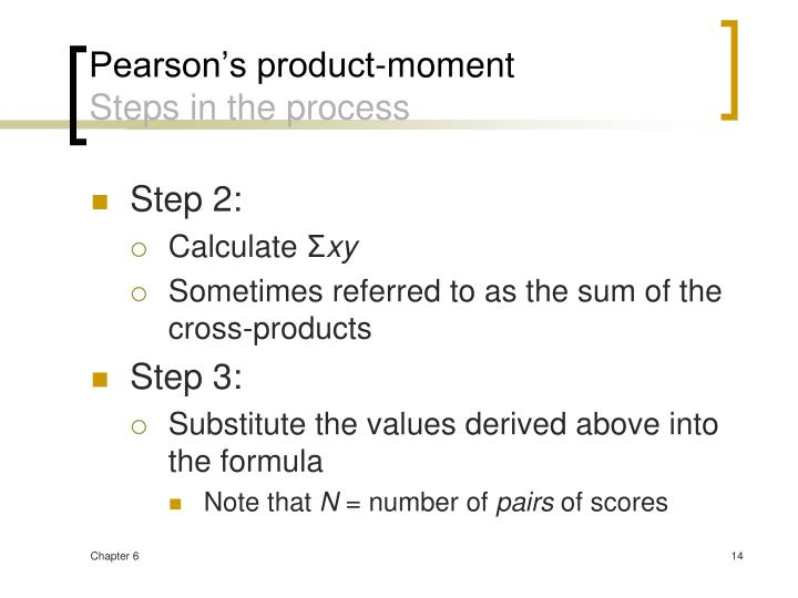 Pearson's product-moment
