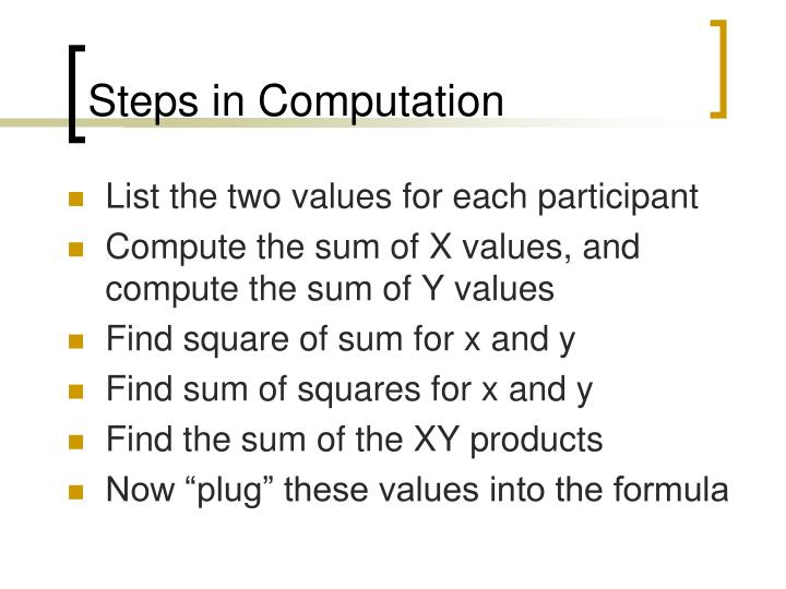 Steps in Computation