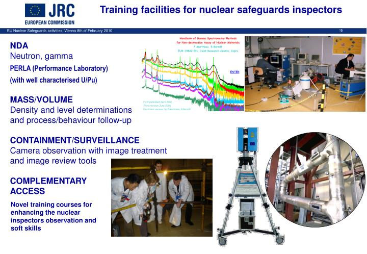 Training facilities for nuclear safeguards inspectors
