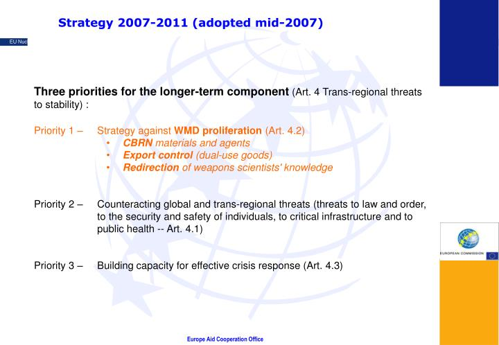 Strategy 2007-2011 (adopted mid-2007)