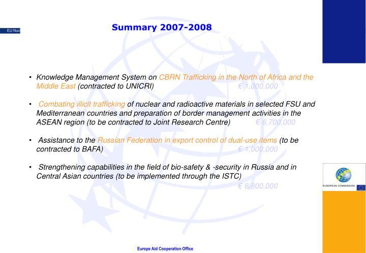 Summary 2007-2008