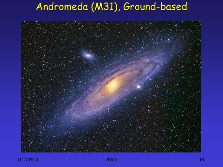 Andromeda (M31), Ground-based
