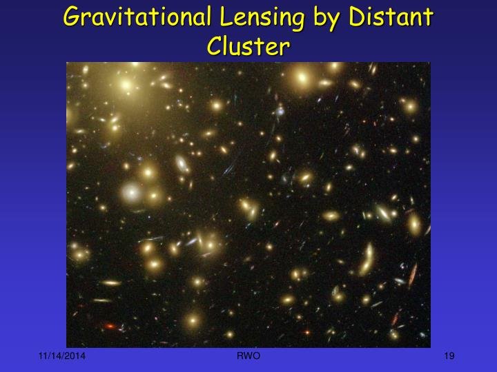 Gravitational Lensing by Distant Cluster