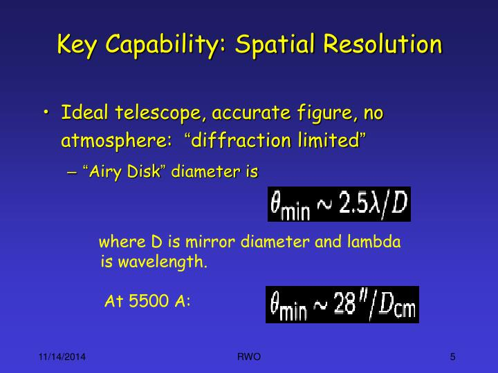Key Capability: Spatial Resolution