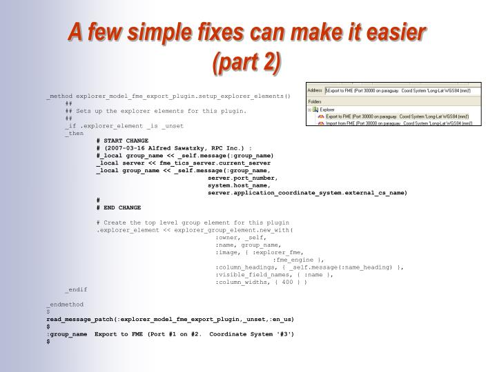 A few simple fixes can make it easier