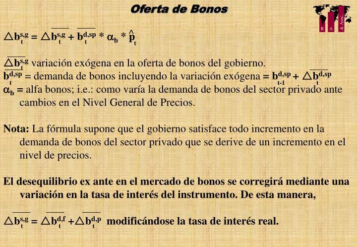 Oferta de Bonos