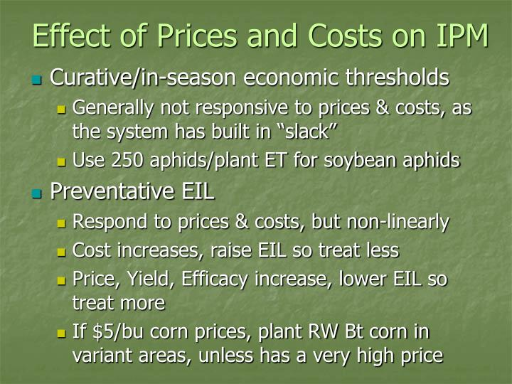 Effect of Prices and Costs on IPM
