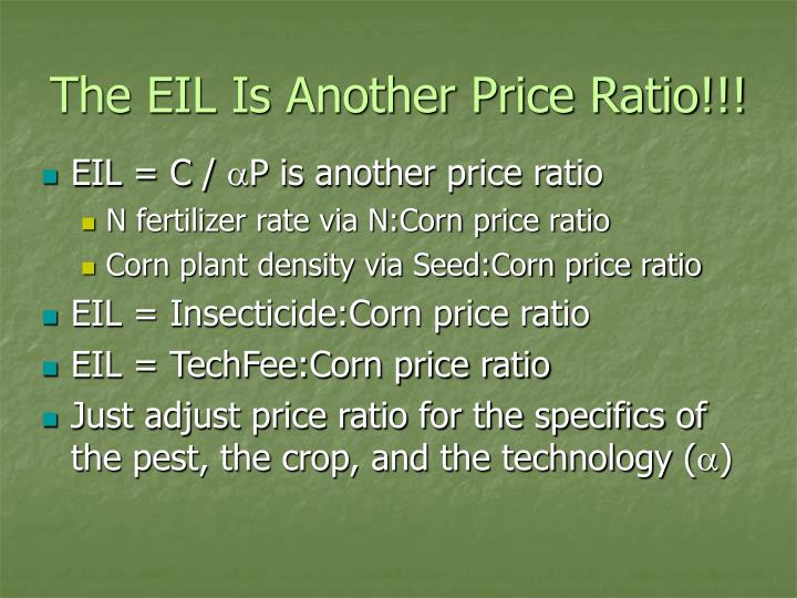 The EIL Is Another Price Ratio!!!