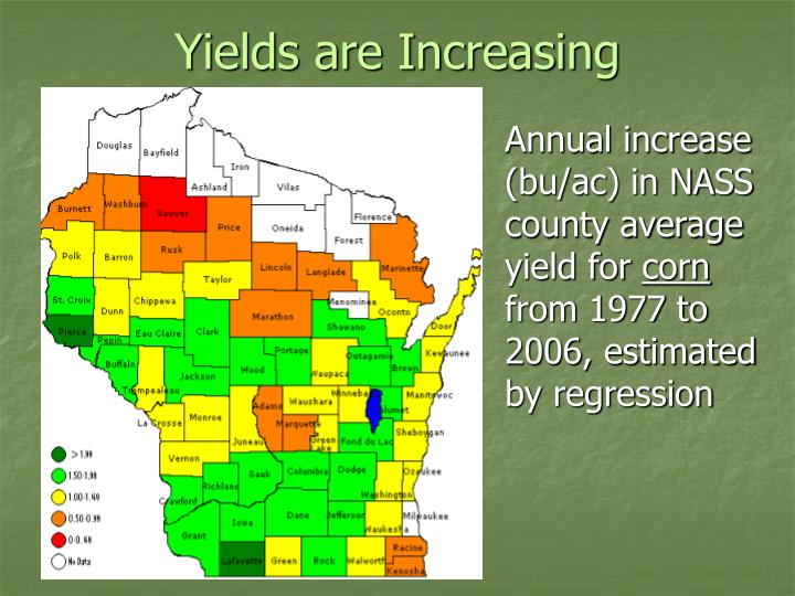 Yields are increasing