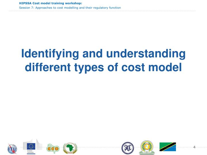 Identifying and understanding different types of cost model