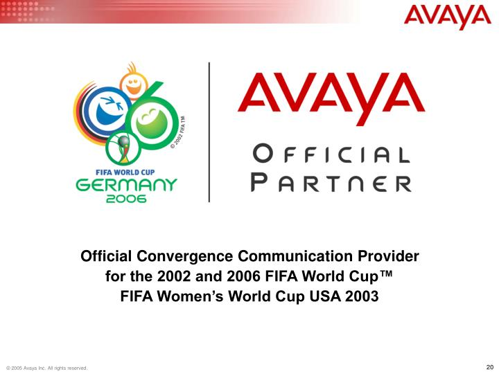 Official Convergence Communication Provider