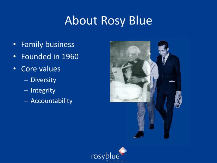 About Rosy Blue