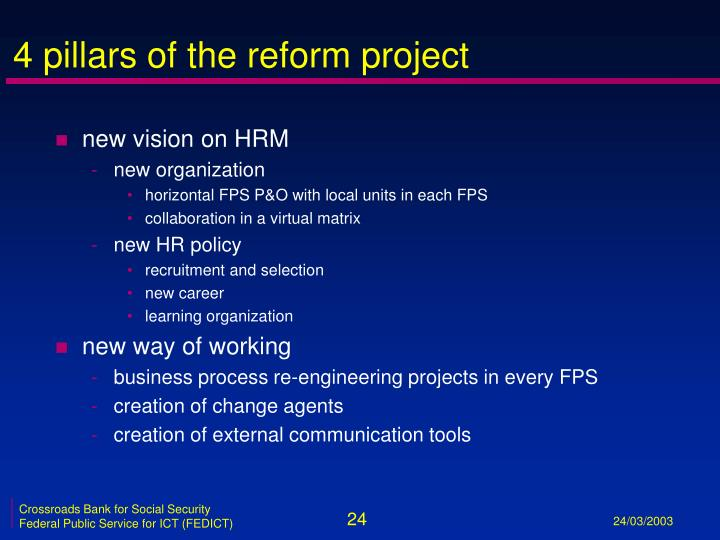 4 pillars of the reform project