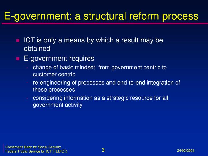 E government a structural reform process
