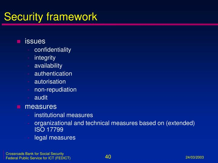 Security framework