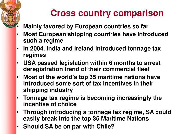 Cross country comparison
