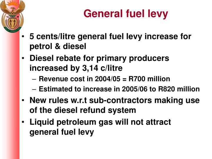 General fuel levy