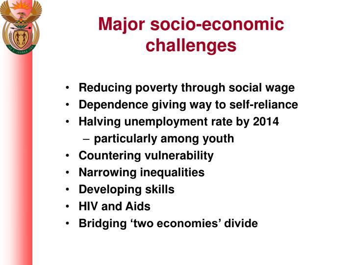 Major socio-economic challenges