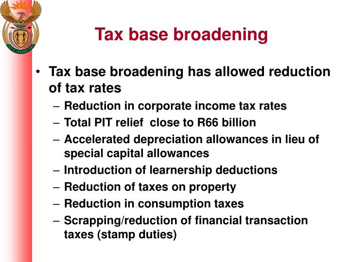 Tax base broadening