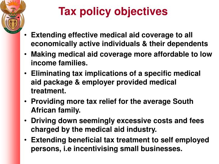 Tax policy objectives