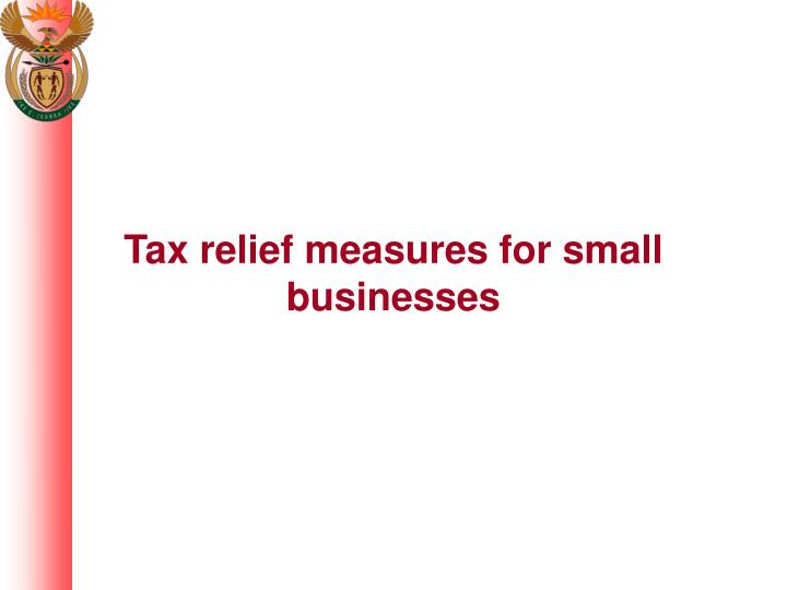 Tax relief measures for small businesses