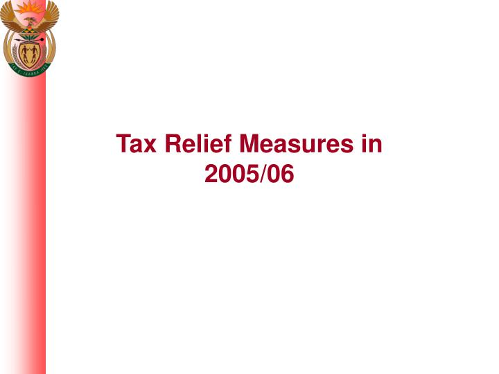 Tax Relief Measures in