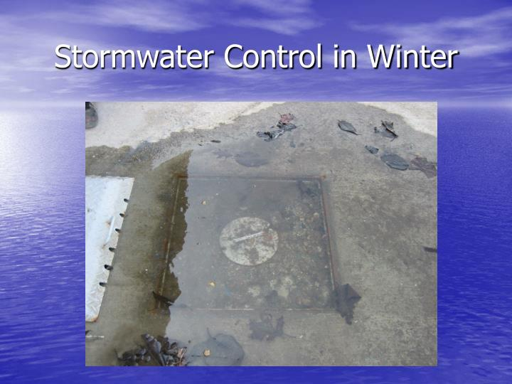 Stormwater Control in Winter