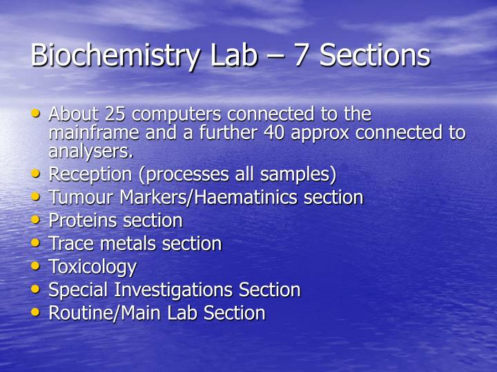 Biochemistry Lab – 7 Sections