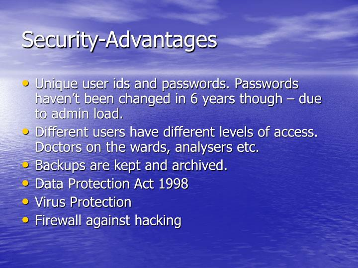 Security-Advantages