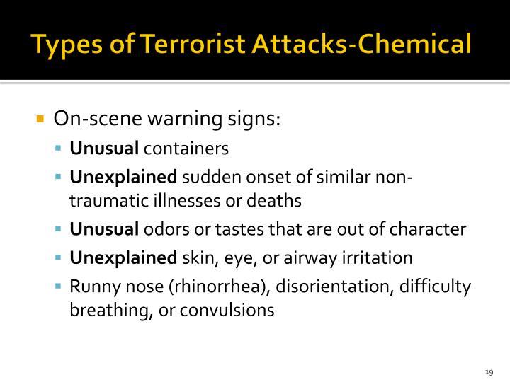 Types of Terrorist Attacks-Chemical
