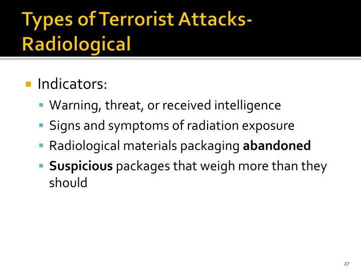 Types of Terrorist Attacks-Radiological