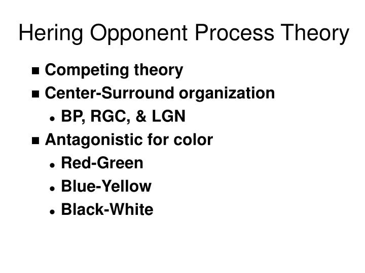 Hering Opponent Process Theory