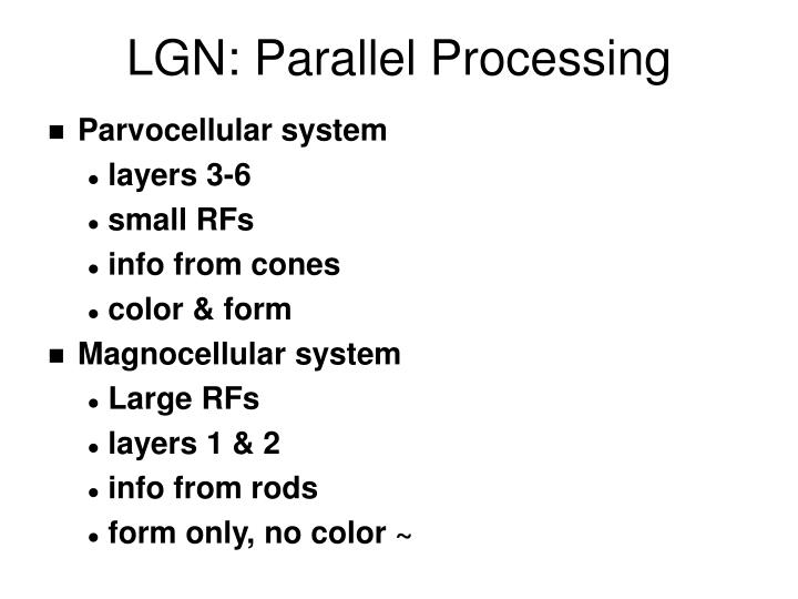 LGN: Parallel Processing