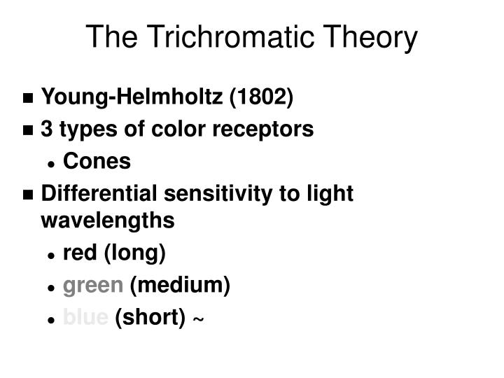 The trichromatic theory