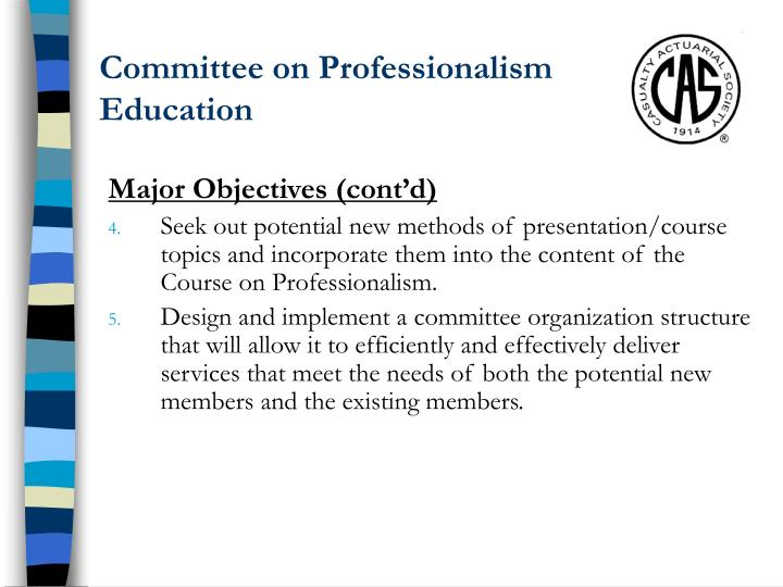 Committee on Professionalism