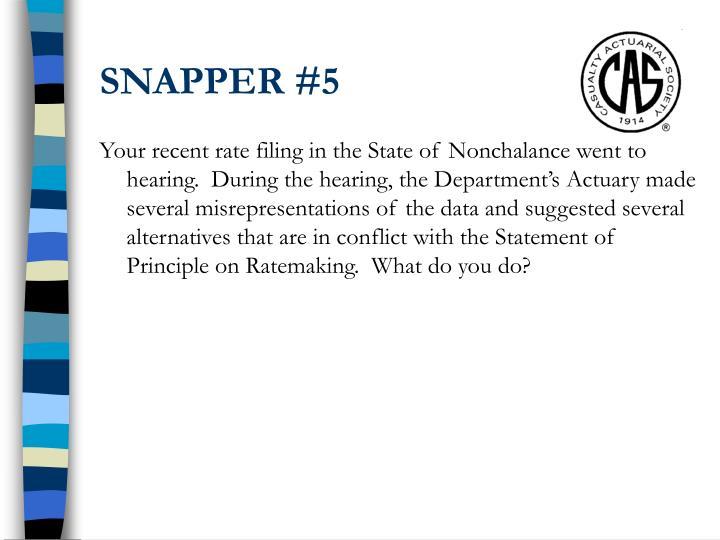 SNAPPER #5