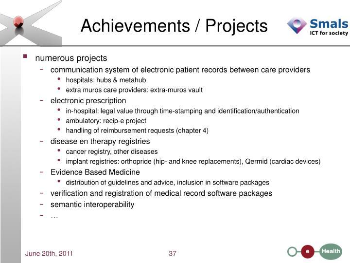 Achievements / Projects