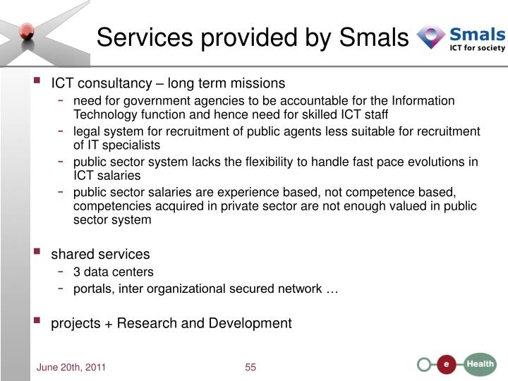 Services provided by Smals