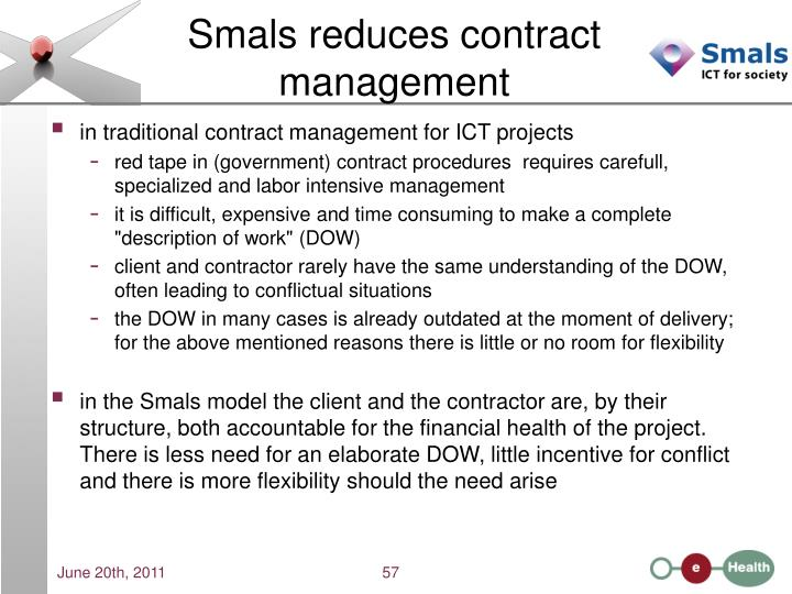Smals reduces contract