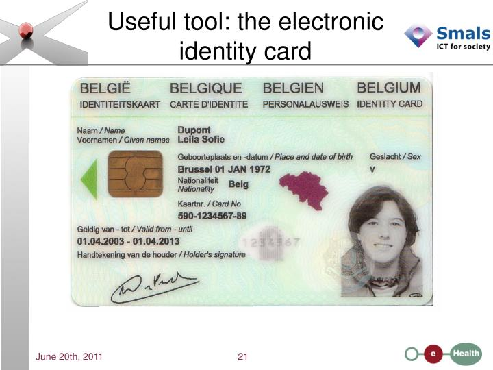 Useful tool: the electronic identity card