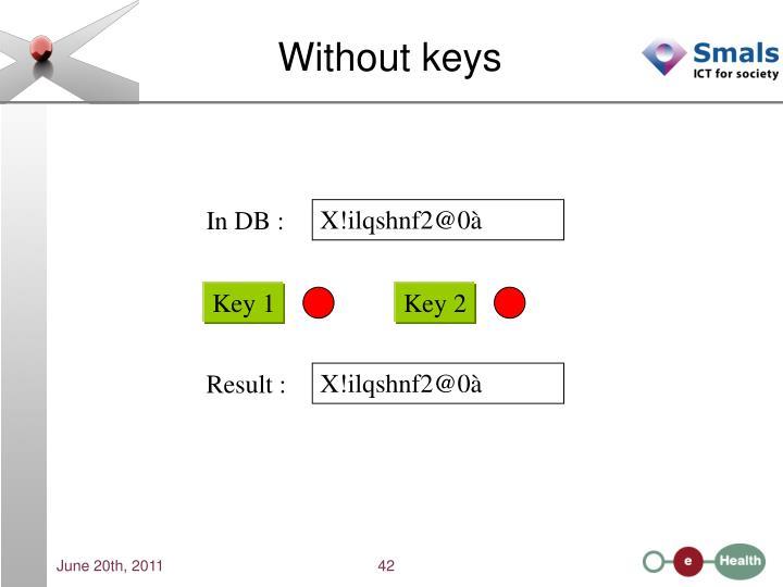Without keys