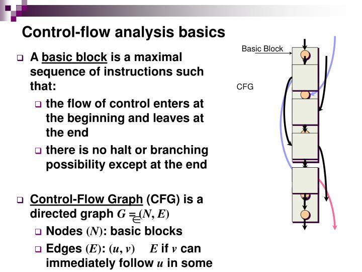 Control-flow analysis basics