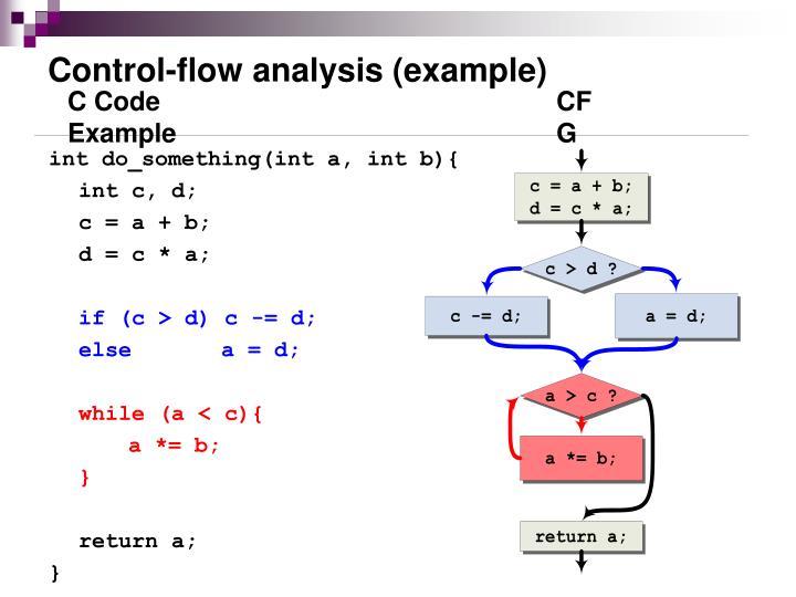 Control-flow analysis (example)