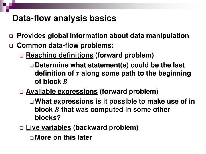 Data-flow analysis basics